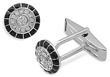 Bloomingdale's Men's Diamond Cufflinks in 14K White Gold, 0.5 ct. t.w. - 100% Exclusive