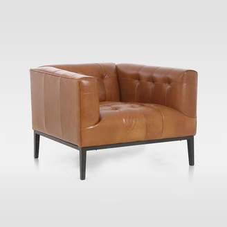 west elm Iron Base Leather Chair