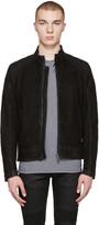 Belstaff Black Suede Sandback Jacket