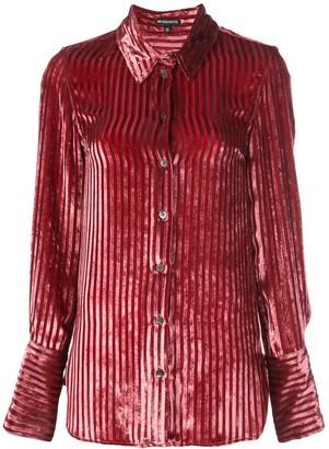 Ann Demeulemeester Striped Velvet Shirt