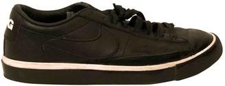 Nike X Comme Des Garçons Nike X Comme Des Garcons Blazer Black Leather Trainers