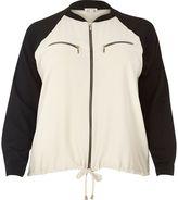River Island Womens Plus beige lightweight bomber jacket
