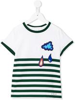 Burberry striped weather appliqué T-shirt