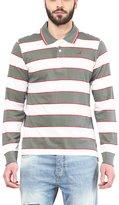 American Crew Men's Polo Collar Long Sleeves Stripes T-Shirt -L (AC083FS-L)