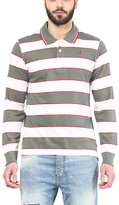 American Crew Men's Polo Collar Long Sleeves Stripes T-Shirt -XL (AC083FS-XL)