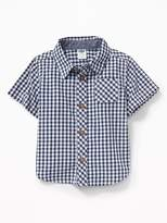 Old Navy Poplin Gingham Shirt for Baby