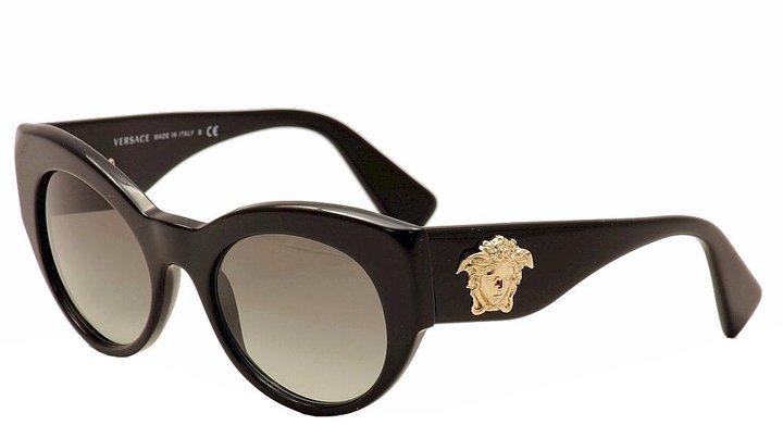 Versace Medusa Cateye Sunglasses in Black VE4297 GB1/11
