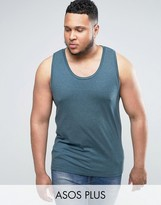 Asos PLUS Muscle Fit Tank In Green