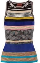 Missoni Striped Crochet-Knit Tank