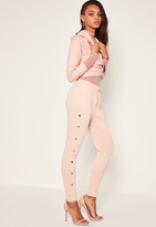 Missguided Nude Popper Side Joggers