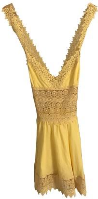 Charo Ruiz Ibiza Yellow Cotton Dresses