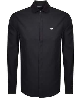 Giorgio Armani Emporio Long Sleeved Contrast Shirt Black