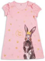 Petit Lem Little Girls Bunny Graphic Nightgown