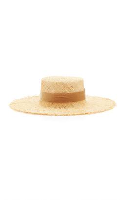LACK OF COLOR Aruba Frayed Raffia Sun Hat