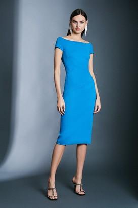 Karen Millen Italian Structured Jersey Bardot Dress