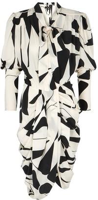 Isabel Marant Atoae printed stretch-silk crepe de chine dress