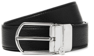 Dunhill 3cm Reversible Smooth And Full-Grain Leather Belt