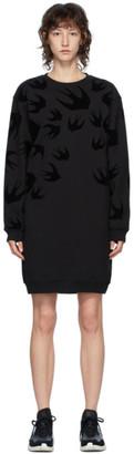 McQ Black Swallow Sweater Short Dress