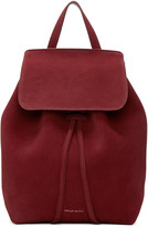 Mansur Gavriel Burgundy Suede Mini Backpack