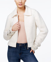 GUESS Nell Faux-Fur Contrast Jacket