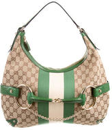 Gucci Horsebit Web Hobo