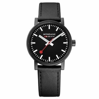 Mondaine SBB Stainless Steel Swiss-Quartz Watch with Leather Strap