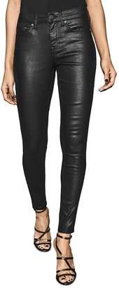 Reiss Lux Snake Coated Skinny Pants