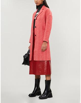 Claudie Pierlot Galvae herringbone-print wool coat