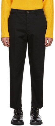 Lemaire Black Twill Chino Trousers