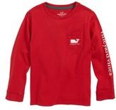 Vineyard Vines Toddler Boy's Vintage Whale Long Sleeve Pocket T-Shirt