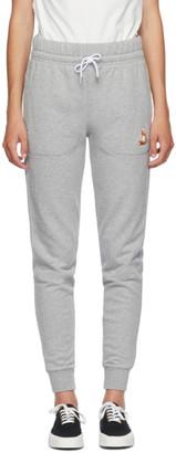 MAISON KITSUNÉ Grey Classic Lotus Fox Jog Lounge Pants