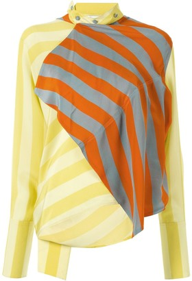 J.W.Anderson Draped Contrast Panel Blouse
