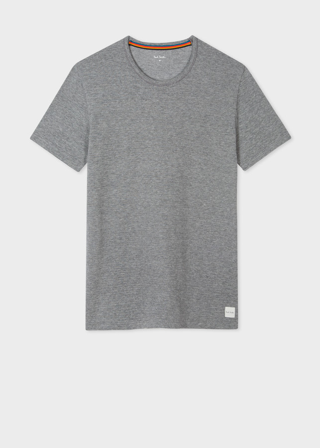 Paul Smith Men's Organic Cotton Grey Marl T-Shirt