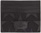 Valentino Black Star Card Holder