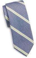 Saks Fifth Avenue Striped Cotton & Silk Tie