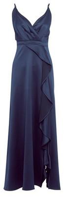 Dorothy Perkins Womens **Showcase Navy Satin Maxi Dress