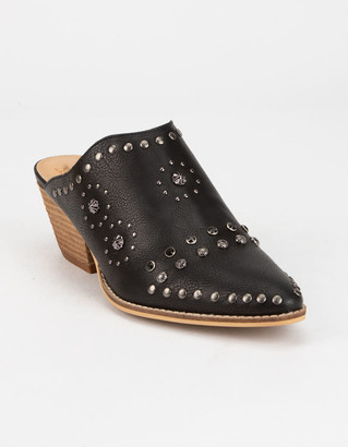 BEAST FASHION Stud Womens Heeled Mules