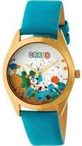 Crayo Graffiti Leather Band Watch