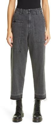 Y's by Yohji Yamamoto Y's by Yohji Yamaoto Asymmetrical Pocket Release Hem Jeans