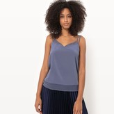 La Redoute Collections Silk Camisole With Voile Panel