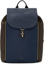Paul Smith Tricolor Leather Drawstring Backpack