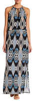 Laundry by Shelli Segal Printed Tie Maxi Dress