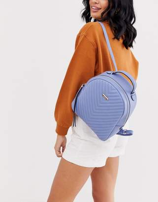 Aldo Quileted Faux Leather Rucksack-Blue