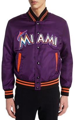 Marcelo Burlon County of Milan Miami Marlins Satin Bomber Jacket