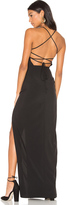 Donna Mizani Cross Back Square Neck Maxi Dress