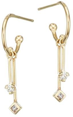 Zoë Chicco 14K Yellow Gold & Diamond Mobile Huggie Hoop Earrings