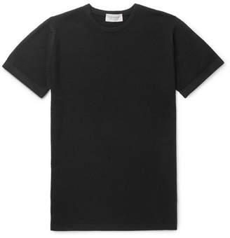John Smedley Slim-Fit Honeycomb-Knit Merino Wool T-Shirt