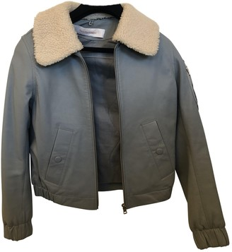 See by Chloe Blue Leather Jackets