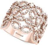 Effy Pavandeacute; Rose by EFFYandreg; Diamond Openwork Flower Ring (7/8 ct. t.w.) in 14k Rose Gold