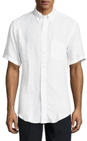 Brooks Brothers Solid Short Sleeve Sportshirt